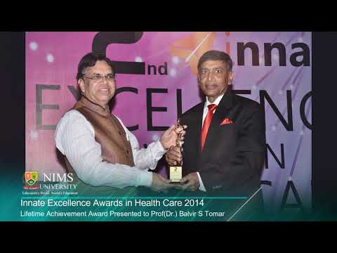 Lifetime Achievement Award to Prof(Dr) B S Tomar , Chancellor & Chairman, NIMS University