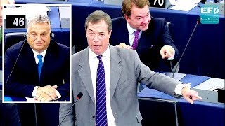 Nigel Farage destroys Eurocrats at the 'show trial' of Viktor Orban