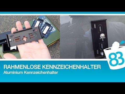 Rahmenlose Kennzeichenhalter Alu - Nummernschildhalter schwarz matt eloxiert Aluminium Medes AluFixx
