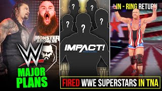 9 FIRED WWE Stars Going TNA*? Ye Hoga Roman ka Future, Kurt Angle IN-RING RETURN, RAW/SMACKDOWN Plan