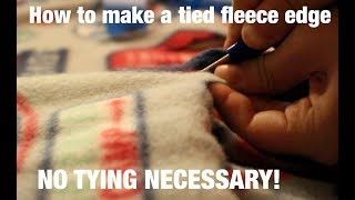 How To Make A Tied Edge Of A Fleece Blanket-without Tying Anything! (The Project Linus Way)