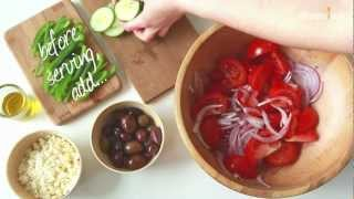 preview picture of video 'Greek salad - Traditional recipe - Allrecipes.co.uk'