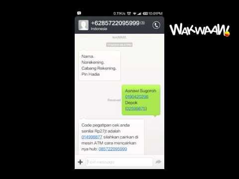Rekaman Percakapan Proses Penipuan SMS Berhadiah Cek BRI 27 Juta Rupiah - Wakwaaw