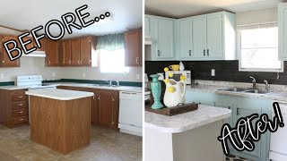 COMPLETE Mobile Home Kitchen Makeover! ONLY $200!!!!