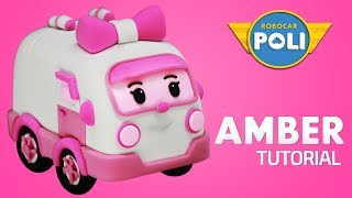 Transformed into clay♥ Amber became so soft! | Friends of Robocar POLI | Gony's Claytown