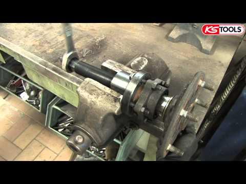 Anwendungsvideo Radlager-Werkzeug-Satz Ford Transit KS Tools 150.2370