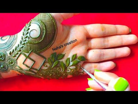 green floral mehndi design by neha
