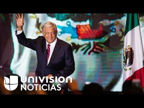 Toma de posesion de AMLO como presidente de Mexico