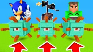 Minecraft PE : DO NOT CHOOSE THE WRONG GUARDIAN! (Sonic, Siren Head & Jelly)