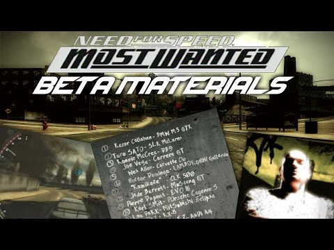 Need For Speed Most Wanted - Beta materials