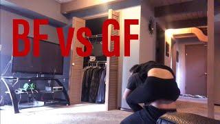 BOYFRIEND VS GIRLFRIEND WRESTLING MATCH