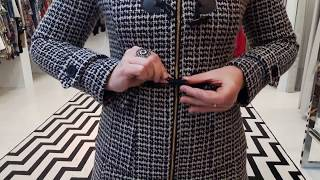 Vídeo Casaco em Lã com Zíper e Capuz Malise Cor Caramelo