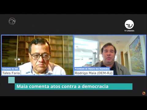 Maia comenta atos contra a democracia - 01/06/20
