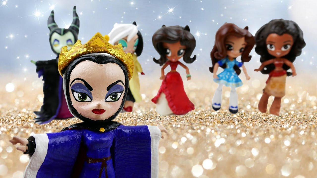 End of Year Disney Princess and Disney Villain Custom Doll Review | Evies Toy House