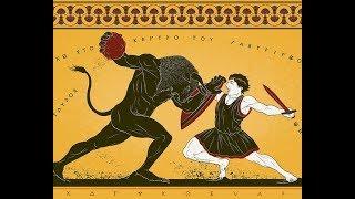 Ztratený labyrint Kréty, legendárny labyrint minotaur starovekej Kréty, Grécko