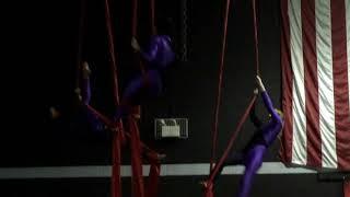 3rd Annual Aerial Fitness Blood Drive & Show- AERIAL SILK TRIO Amanda Densmore, Rebecca Edwards,