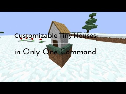 Customizable Tiny Houses In Only One Command Minecraft Blog - Minecraft hauser comand