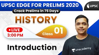 UPSC EDGE for Prelims 2020 | History by Pareek Sir | Introduction