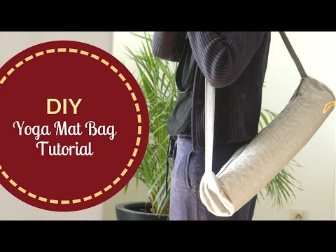 DIY Yoga Mat Bag | Zipper Bag with Crossbody Strap