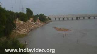 Krishna River and Prakasam Barrage