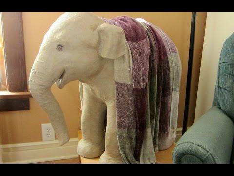 sculpture paper mache elephant tutorial