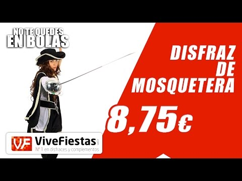 Disfraz De Mosquetera #YoNoMeQuedoEnBolas - ViveFiestas.com