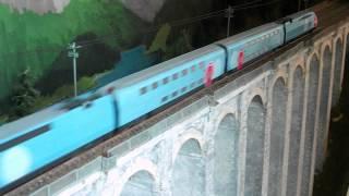 """Детская Железная дорога Mehano (Т114) —  двухэтажный TGV OUIGO от компании Интернет-магазин """"Timatoma"""" - видео 1"""