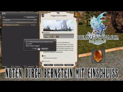 Final Fantasy XIV Heavensward - Bernstein mit Einschluss Farmen (29.05.2016)
