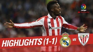 Resumen de Real Madrid vs Athletic Club (1-1)