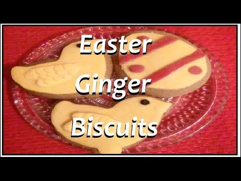 Easter Ginger Biscuits / Cookies ( Quick And Easy Recipe )