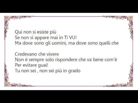 Vasco Rossi - Non Appari Mai Lyrics