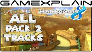 Mario Kart 8: All 8 DLC Pack 2 Tracks! (Full Race + All Seasons)
