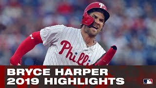 2019 Bryce Harper Highlights | Phillies' new addition showed out in 2019