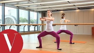 Barre 鍛鍊大腿內收肌,輕鬆駕馭牛仔褲|SpaceCycle|Melissa 教學 |Vogue Taiwan by VOGUE Taiwan