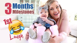 3 MONTHS BABY Growth & Development | 1st Laugh 👶🏻 Baby Milestones