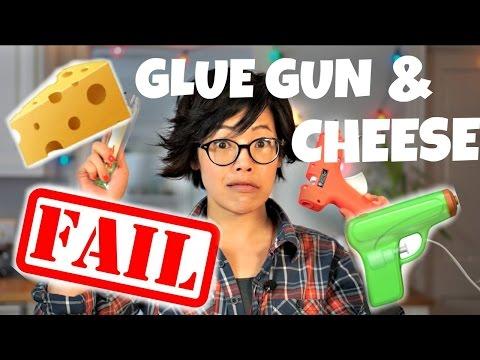 GLUE GUN & CHEESE | DIY Fondoodler | extrude melted cheese
