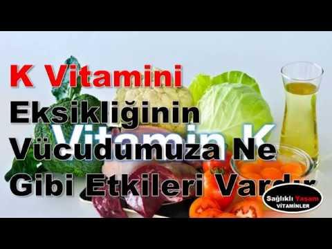 K Vitamini Eksikliğinin Vücudumuza Ne Gibi Etkileri Vardır