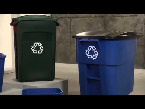 Contenedores de basura para reciclaje, botes, cestos de basura para reciclaje