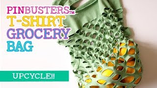 How To Up-Cycle A T-Shirt Into A Grocery Bag // DOES THIS WORK?