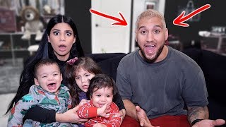 DYED MY HAIR BLONDE AND SURPRISED BRAMTY!!! *CRAZY REACTION*