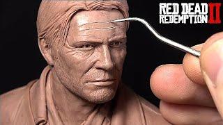 Sculpting Arthur Morgan Riding His Horse | Red Dead Redemption 2 Fan Art Sculpture
