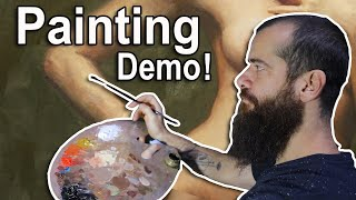 How I Paint An Arm, First Painting Stage Demo. Cesar Santos Vlog 083