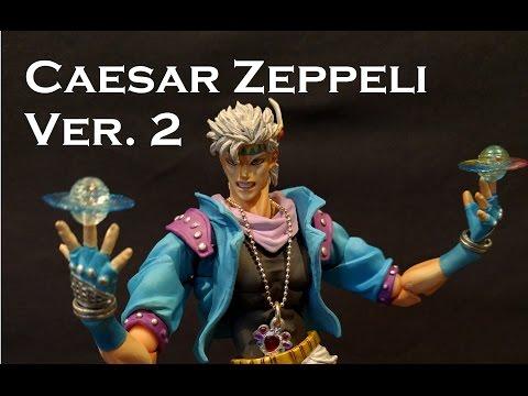 Super Action Statue CAESAR ZEPPELI Ver. 2 Figure Review (Jojo's Bizarre Adventure)