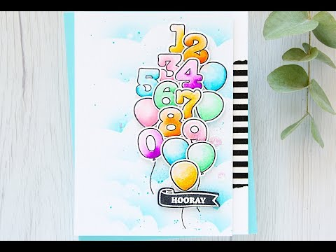 Balloon Numbers Card