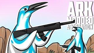 Aberration Modded - PENGUIN ARMY WITH MACHINE GUNS?! #1 - ARK: Survival Evolved Pugnacia Mod