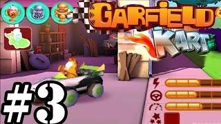Garfield Kart   Hamburger Cup 150cc   Gameplay Walkthrough Part 3 [ 3DS ]