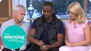 Magical Bones Shocks Holly and Phillip With a Gravity Defying Card Trick! | This Morning