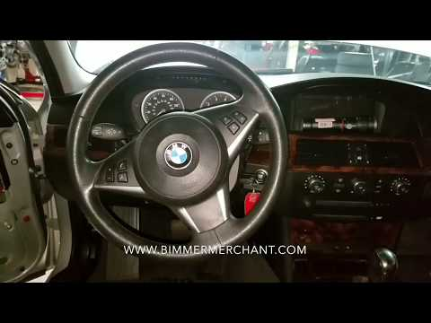BMW E60 550 530 525 Sport Steering Wheel Airbag Removal