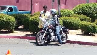 Actual California DMV Motorcycle Driving Test
