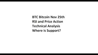 BTC Bitcoin Nov 25th - RSI and Price Action Technical Analysis - Where is Support?